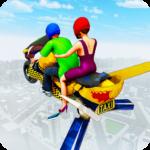 Flying Hover Bike Taxi Driver City Passenger Sim APK