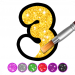 Glitter Number and letters coloring Book for kids APK